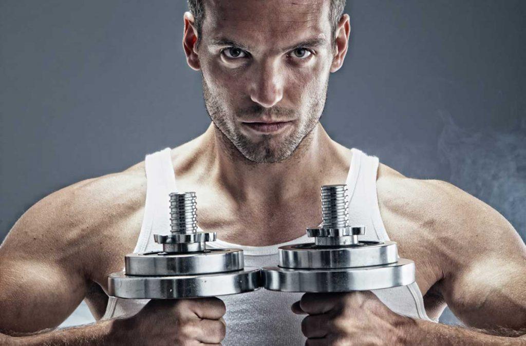 Ejercicios en casa musculación pesas