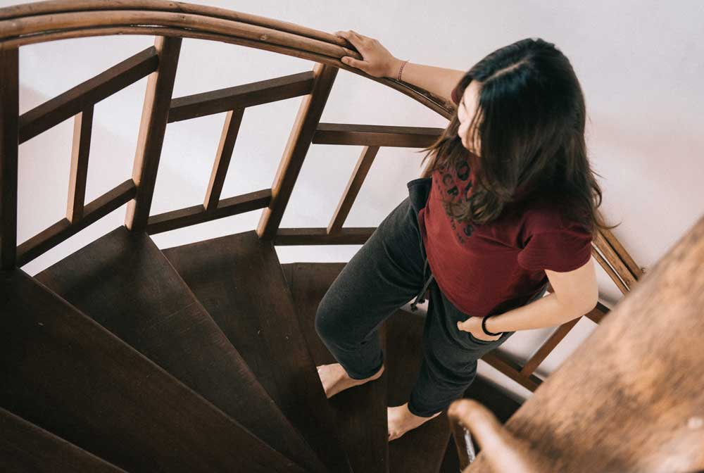 Ejercicio en casa subir escaleras