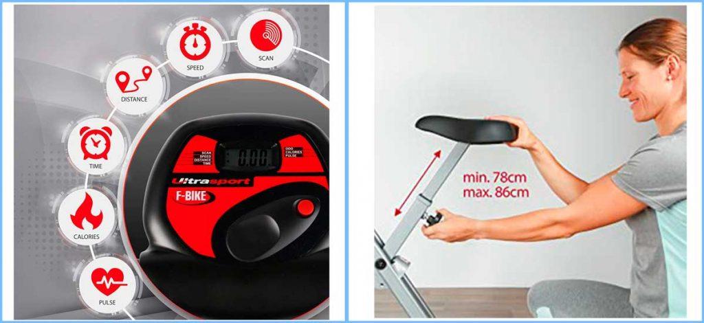 Bicicletas estáticas plegables Ultrasport F-Bike info