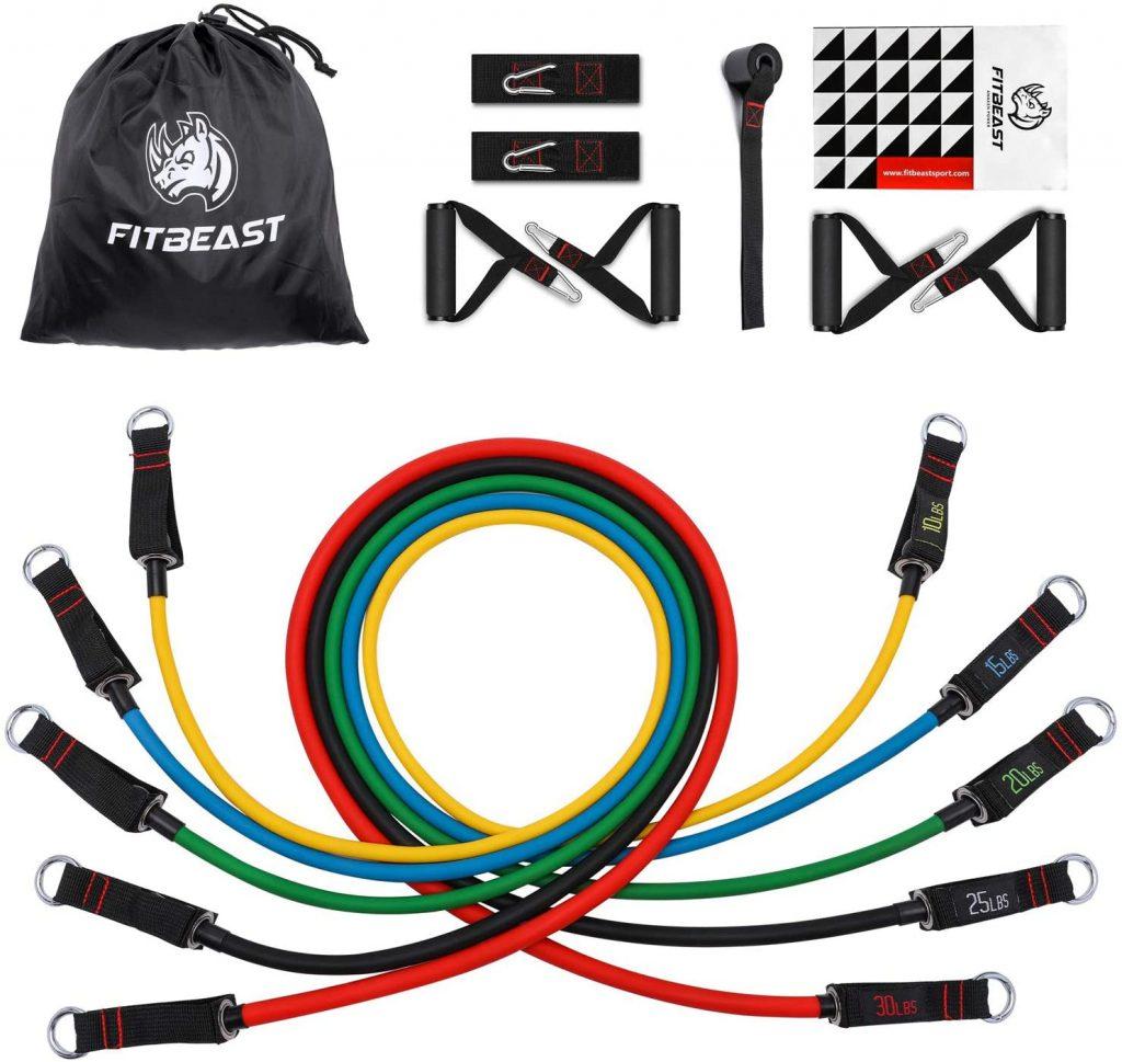 FitBeast Bandas-elásticas de tubo resistencia musculación