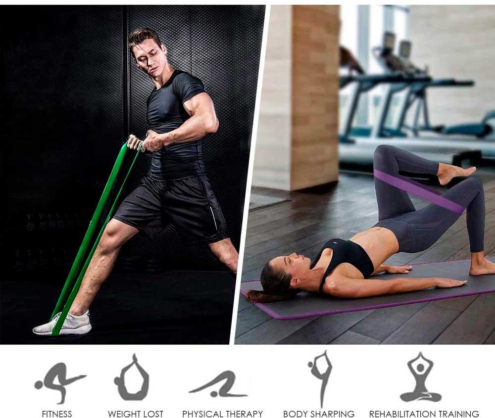 INTEY Bandas elásticas de musculación resistencia