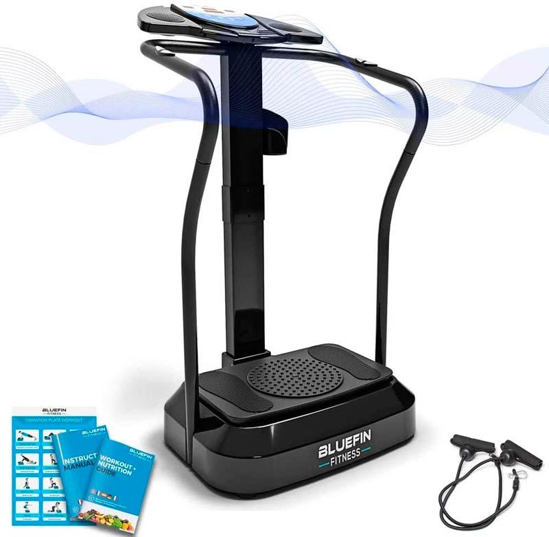 mejores Plataformas Vibratorias de ejercicios Pro Bluefin Fitness agarre vertical